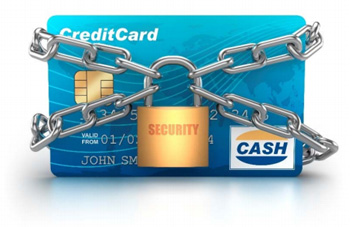 Credit card in security chains